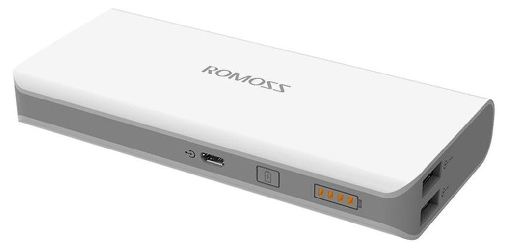 Romoss Solo 4, White внешний аккумулятор00000008578OPRIX ROMOSS Solo 4 - позволяет подзарядить ваше устройство в любом месте, где нет доступа к электричеству. Данная модель имеет высокую емкость, набор переходников для наиболее популярных устройств, режим автоматического отключения и долгий период сохранения заряда. Оно отлично подходит для походов, путешествий и для тех случаев, когда не хватает емкости стандартного аккумулятора. Устройство имеет 2 порта USB, позволяющие одновременно заряжать 2 ваших гаджета. Идеально подходит для зарядки телефонов, плашшетов, электронных книг и других мобильных устройств.