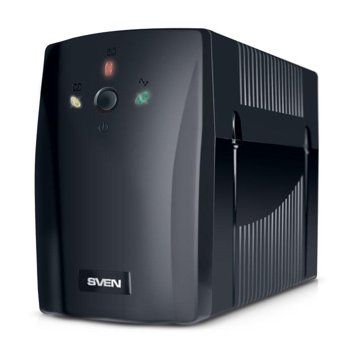 Sven Pro+ 400 источник бесперебойного питанияSV-001186Линейно-интерактивные источники бесперебойного питания SVEN Pro+ 400 предназначены для защиты персональных компьютеров, рабочих станций, а также серверов, оснащенных импульсными блоками питания. Благодаря встроенной батарее ИБП способен работать даже при полном пропадании электроснабжения, что позволяет пользователю сохранить данные и корректно завершить работу операционной системы. Встроенный стабилизатор сетевого напряжения позволяет автоматически регулировать напряжение в диапазоне 165–275 В и обеспечивать возможность длительной непрерывной работы. Это особенность важна для сетей с нестабильным напряжением.SVEN Pro+ 400 снабжен функцией холодный старт, позволяющей принудительно включить ИБП при отсутствии сетевого напряжения.Форма выходного напряжения: апроксимированная синусоидаAVR (авторегулятор напряжения)Время переключения: 10 мсНапряжение батарей: 12 ВЕмкость батареи: 7 АчВремя подзаряда: 4 часа (до уровня >85 %); 8 часов (до уровня >90 %)Эффективность: 80%