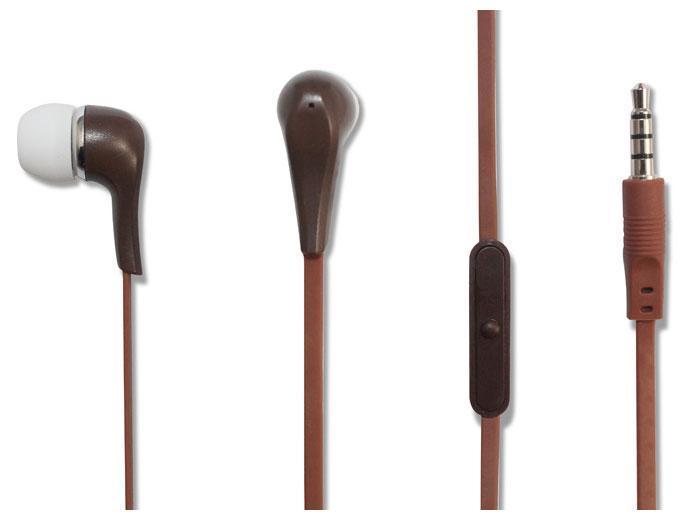 Oxion HSO211, Brown гарнитураHSO211BRНаушники с микрофоном OXION HSO211 (Затычки, 20-20kHz, 102±3dB,32 Ом, плоский шнур 1,2м). Легкие и комфортные. Кнопка ответа ивысокочувствительный микрофон. Наушники в изящном современномдизайне обладают превосходным звучанием.
