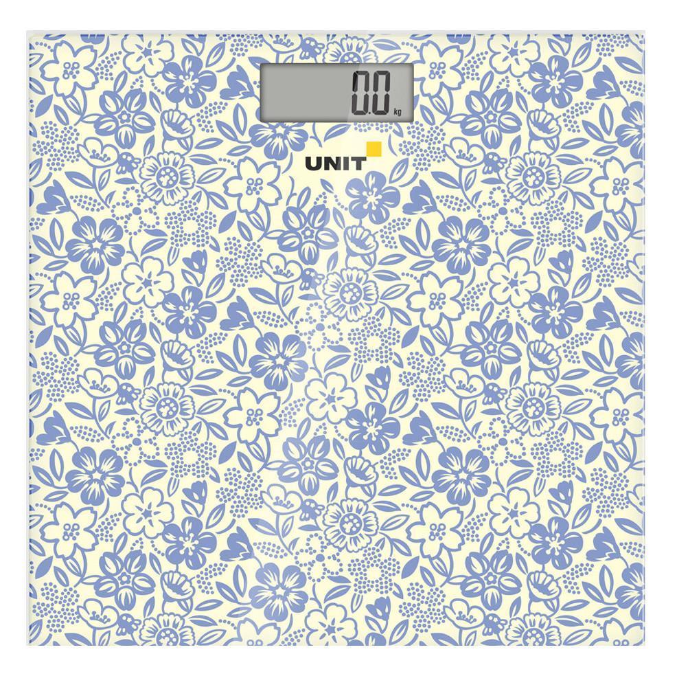 Unit UBS-2051, Warm Grey весы напольныеUBS-2051 сизыйВесы напольные электронные UNIT UBS-2051, стекло, 150кг. 100гр. (Цвет - Сизый)