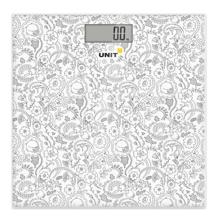 Unit UBS-2052, Pale Grey весы напольныеUBS-2052 светло-серыйВесы напольные электронные UNIT UBS-2052, стекло, 150кг. 100гр. (Цвет: Светло-Серый)