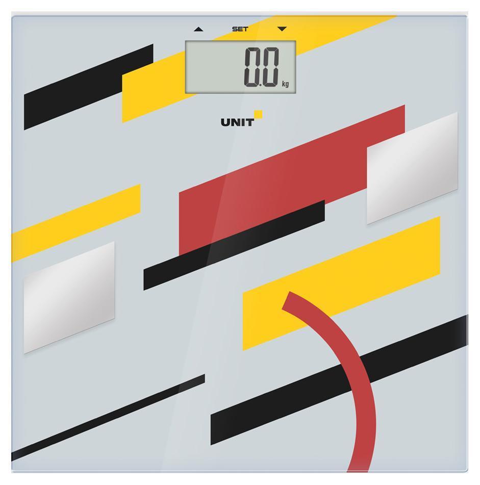 Unit UBS-2200, Pale Grey весы напольныеUBS-2200 светло-серыйВесы напольные электронные UNIT UBS-2200, стекло, Многофункциональные, 150кг. 100гр. (Цвет: Светло-Серый)