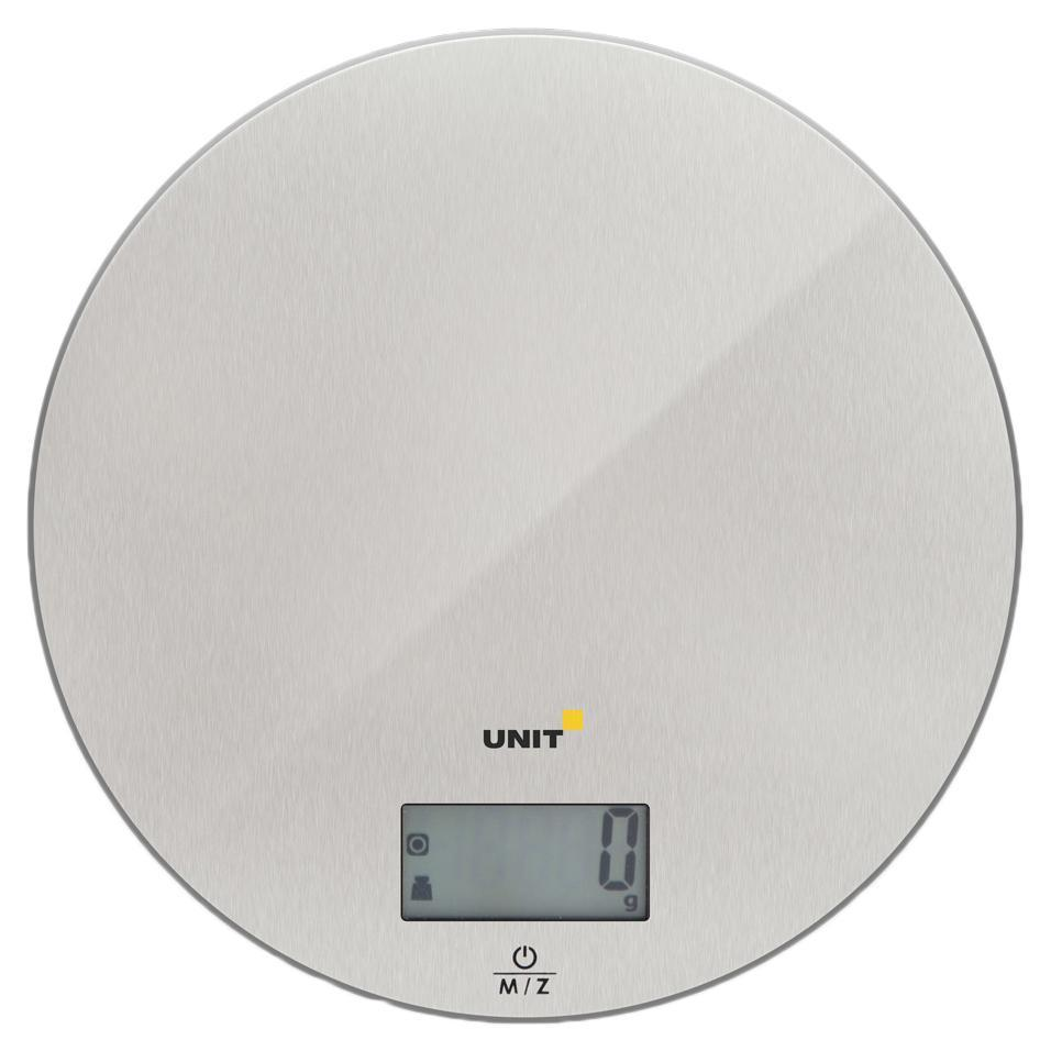 Unit UBS-2150, Steel весы кухонныеUBS-2150 стальнойВесы Кухонные электронные UNIT UBS-2150, стекло, сталь, 5кг. 1гр.