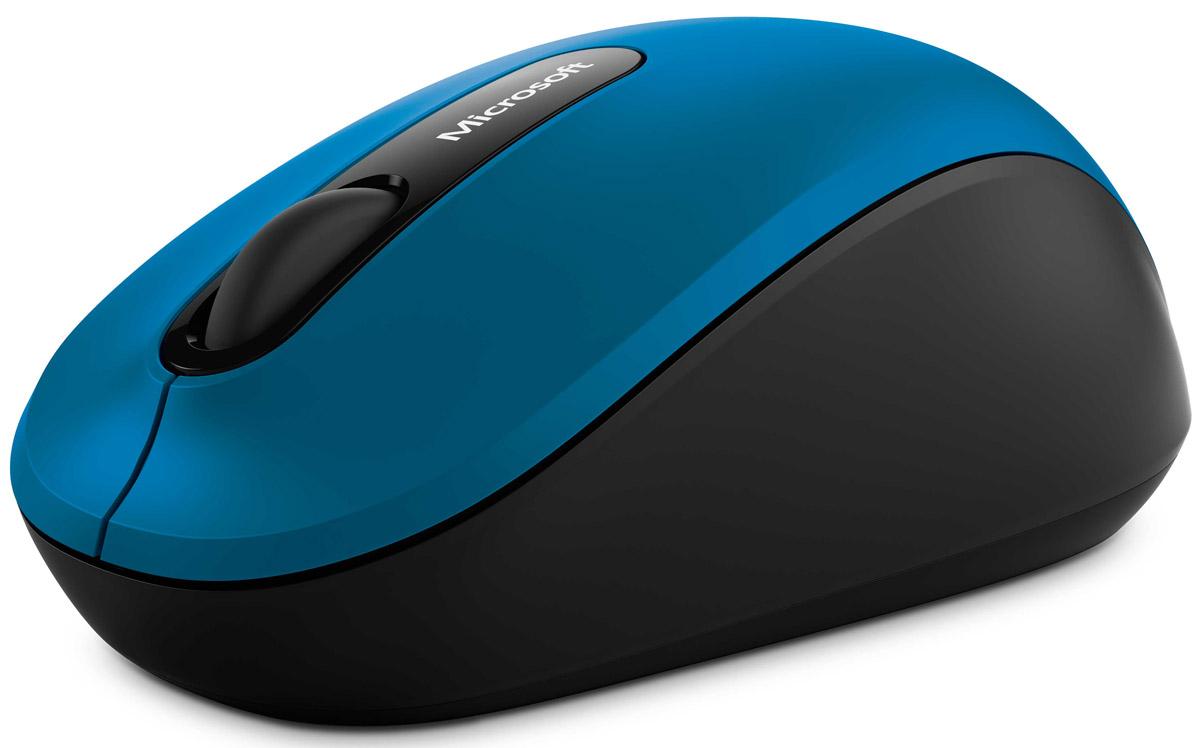 Microsoft Bluetooth Mobile Mouse 3600, Blue беспроводная мышьPN7-00024Вам понравится, как мышь Bluetooth Mobile Mouse 3600 лежит у вас в руке и соответствует вашему мобильному жизненному стилю. Ей можно пользоваться практически на любой поверхности, даже на грубой скамейке в парке или ковре в гостиной, благодаря Microsoft Bluetrack Technology. Для управления не требуются приемопередатчики и провода. Одна батарея позволит вам использовать мышь до двенадцати месяцев.