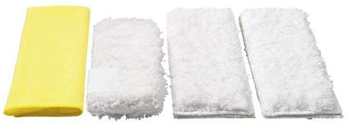 Karcher 28631720 набор салфеток для кухни, 4 шт28631720Набор салфеток для кухни Karcher хорошо впитывает воду и не оставляет разводов. Он обеспечивает оптимальное очищение и высокую абсорбцию; микрофибра - гарантия результата на всех твердых поверхностях! Данный набор можно стирать при температуре 60°С.