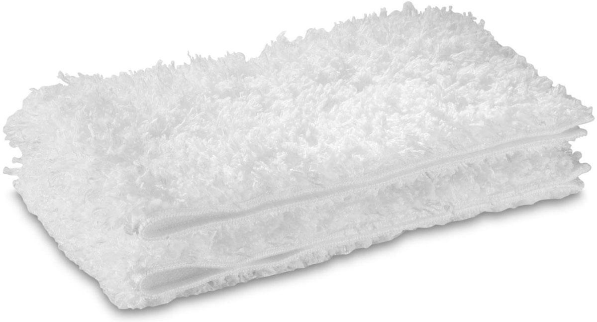 Karcher 28631730 Steam+Clean Floor набор насадок для пароочистителя, 2 шт28631730Набор Karcher 28631730 Steam+Clean Floor включает в себя две мягкие половые тряпки из плюша для улучшенного отделения и поглощения грязи. Подходит для пароочистителей. Это оптимальное решение: высокая абсорбция и гарантия результата на всех твердых поверхностях. Набор можно стирать при температуре 60°С.