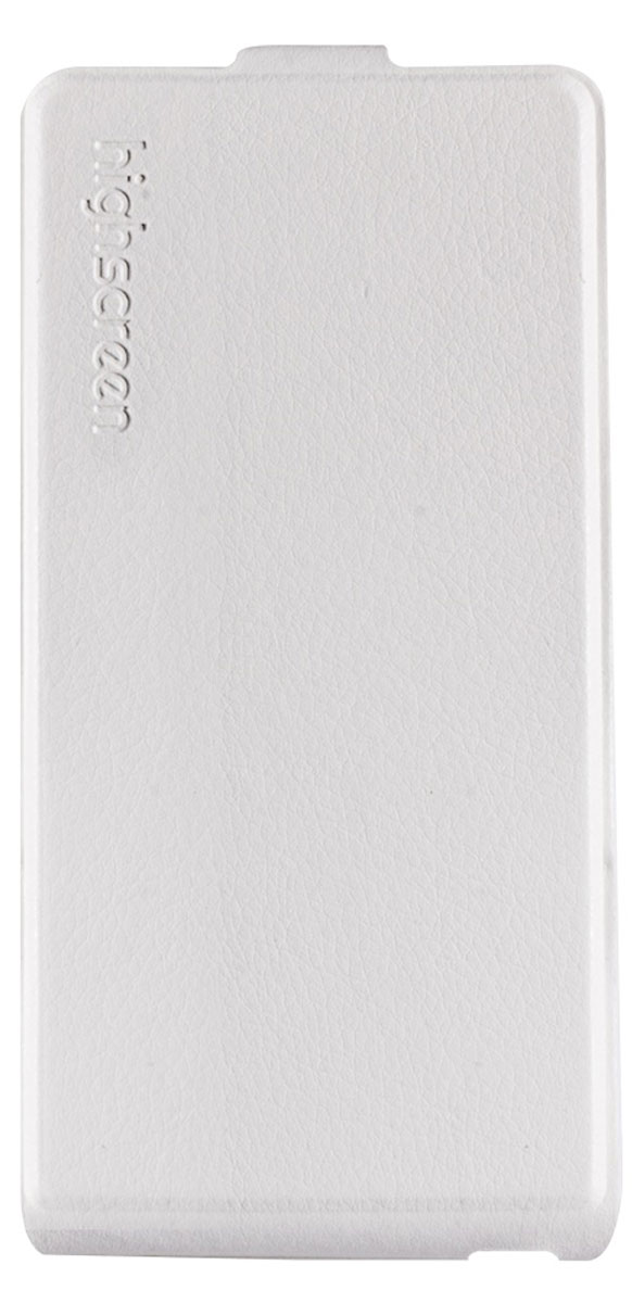 Highscreen Flip Case чехол для Power Five, White флип кейс highscreen flip для power ice evo черный