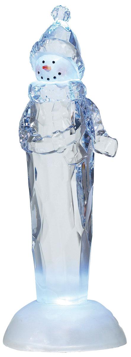 Новогодняя декоративная фигурка Снеговик, с подсветкойKOC_GIR80LED_WНовогодняя декоративная фигурка выполнена из прозрачного акрила в виде снеговика. Изделие оснащено светодиодами. Свечение холодного белого цвета создаст атмосферу волшебства и праздника в вашем доме. Работает от батареек и от сети 220В. Адаптер входит в комплект.