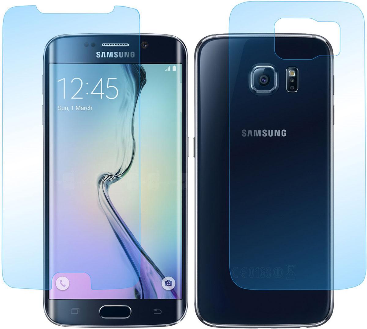 Skinbox защитное стекло на 2 стороны для Samsung Galaxy S6, глянцевоеSP-141Защитное стекло Skinbox для Samsung Galaxy S6 предназначено для защиты поверхности экрана от царапин, потертостей, отпечатков пальцев и прочих следов механического воздействия. Оно имеет окаймляющую загнутую мембрану последнего поколения, а также олеофобное покрытие. Изделие изготовлено из закаленного стекла высшей категории, с высокой чувствительностью и сцеплением с экраном.