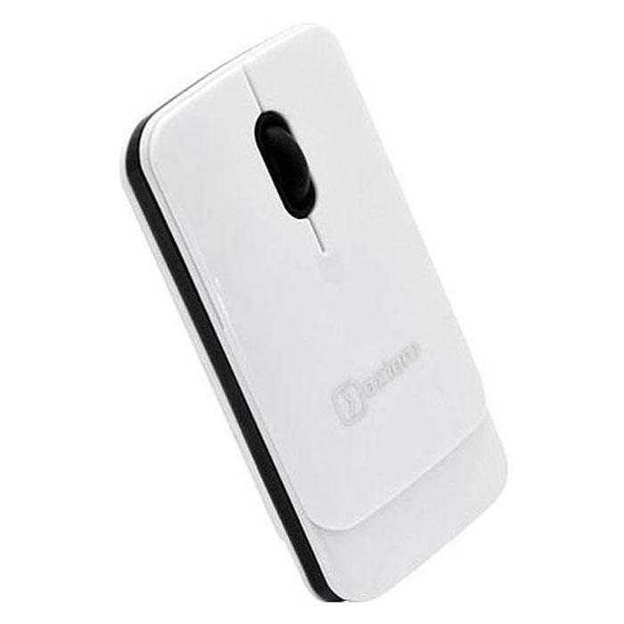 Oxion OMSW004, White мышь беспроводнаяOMSW004WHБеспроводная мышь Oxion OMSW004 имеет эргономичный дизайн, созданный для продолжительной работы без ощущения усталости. Если вы не пользуетесь мышью некоторое время, она автоматически отключается, тем самым экономя заряд батареек. Чувствительный сенсор с разрешением 1000 dpi обеспечивает четкое позиционирование на большинстве поверхностей. Мышь подходит для использования в офисе и дома.