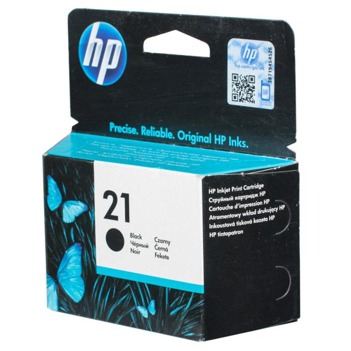 HP C9351AE (21), Black картридж для струйных принтеровC9351AEКартридж HP 21 с черными чернилами на пигментной основе для струйных принтеров.