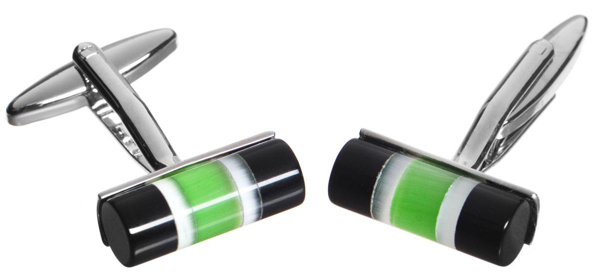 Запонки Mitya Veselkov Цилиндры Черно-зеленые, цвет: серебряный, черный, зеленый. ZAP-210Брелок для ключейСтильные запонки Mitya Veselkov Цилиндры Черно-зеленые выполнены из бижутерийного сплава. Изделие оформлено в виде цилиндров, каждая запонка дополнена вставкой из цветного стекла.Изделие застегивается на вращающийся штырек.Стильный аксессуар подчеркнет ваш костюм, а также придаст элегантность и неповторимость имиджу. Запонки Mitya Veselkov - последний штрих, последняя маленькая точка в вашем облике.