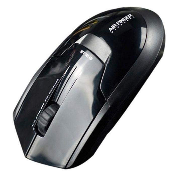 E-Blue EMS117 Air-Finder, Black мышь беспроводнаяEMS117BK(1)Стильная беспроводная мышь E-Blue EMS117 Air-Finder отличается оригинальным дизайном, качеством и комфортом в применении. Технология 2,4 ГГц обеспечивает удобство и свободу действий. Пропускная способность достигает 2 Мб/с, а это значит, что вы спокойно можете задавать любую нагрузку на мышь. Как только вы отключите передатчик из usb порта, устройство перестанет работать. Три кнопки позволяют вам выполнять работу быстро и уверенно.