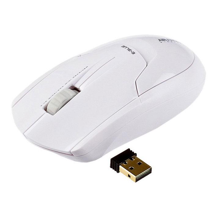 E-Blue EMS117 Air-Finder, White мышь беспроводнаяEMS117WHСтильная беспроводная мышь E-Blue EMS117 Air-Finder отличается оригинальным дизайном, качеством и комфортом в применении. Технология 2,4 ГГц обеспечивает удобство и свободу действий. Пропускная способность достигает 2 Мб/с, а это значит, что вы спокойно можете задавать любую нагрузку на мышь. Как только вы отключите передатчик из usb порта, устройство перестанет работать. Три кнопки позволяют вам выполнять работу быстро и уверенно.