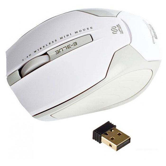 E-Blue EMS126 Arco mini, White мышь беспроводнаяEMS126WHБеспроводная лазерная мышь E-Blue EMS126 Arco mini отлично подойдет для работы с ноутбуком. Устройство подходит как для левшей, так и правшей и работает мягко и быстро. Разрешение сенсора в1200 dpi дает четкое и оперативное выполнение различных задач. Стильный и эргономичный дизайн подойдет как для работы дома, так и в офисе.