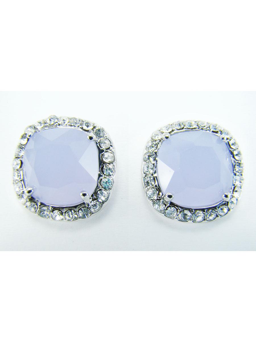 Серьги Taya, цвет: серебристый, голубой. T-B-5790Пуссеты (гвоздики)Стильные серьги Taya выполнены из ювелирного сплава. Изделия оформлены стразами и вставкой из стекла. Застегиваются серьги на замок-гвоздик с заглушками.Оригинальные серьги модного дизайна создадут яркий и запоминающийся образ.