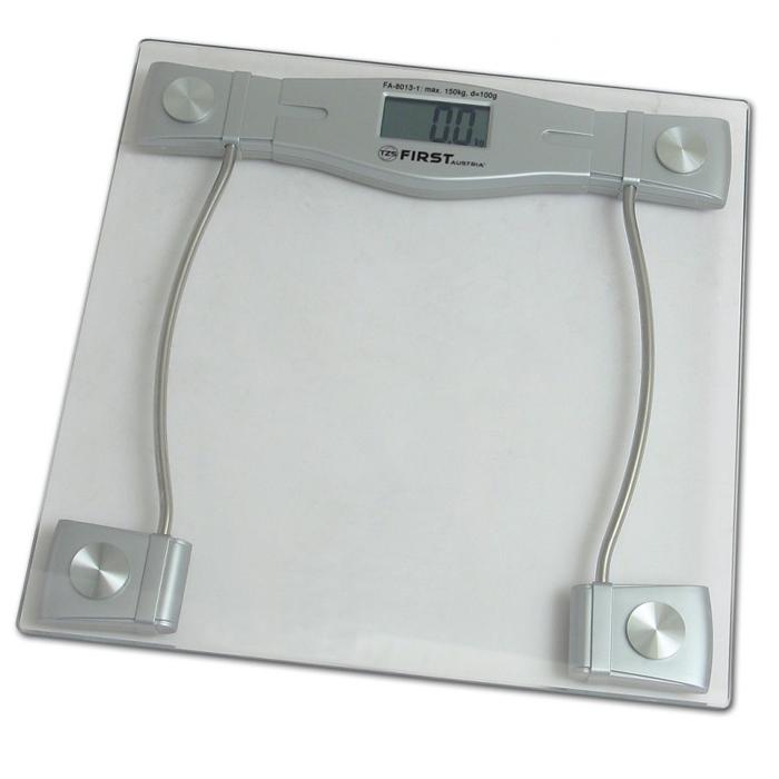 First 8013-1, Grey весы напольныеFA-8013-1 GreyСтильные напольные весы First 8013-1 помогут не только контролировать свой вес с точностью 100 грамм, но и станут еще одним атрибутом любого интерьера, так как имеют устойчивую и особо прочную стеклянную платформу. Корпус весов сверхтонкий, на нем расположен удобный жидкокристаллический дисплей.