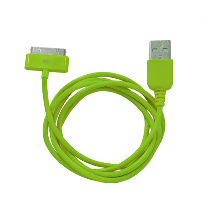 Human Friends Rainbow C, Green кабель USB/30-pinRainbow C GreenHF Rainbow - кабель для соединения устройств Apple c USB-портом. Он может использоваться для передачи данных, зарядки аккумулятора и адаптирован для работы со всеми операционными системами. Главное достоинство Rainbow - в его внешнем виде. Он выгодно отличается от привычных и скучных расцветок стандартных кабелей. И кроме того, кабель упакован в очень удобный и компактный пакет-чехол с многоразовой системой открывания-закрывания.