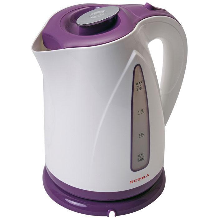 Supra KES-2004, Violet электрочайникKES-2004 violetМодный и стильный электрочайник Supra KES-2004 не только украсит Вашу кухню, но и сэкономит время на приготовление чая или кофе, благодаря своей достаточно большой мощности. К тому же закипятив воду в электрочайнике Supra KES-2004, Вы можете быть абсолютно спокойны за свое здоровье, так как его корпус сделан из нержавеющей стали, а наличие кнопки для открывания крышки и возможность ее фиксировать гарантирует Вам полную безопасность во время наливания кипятка в чашку.