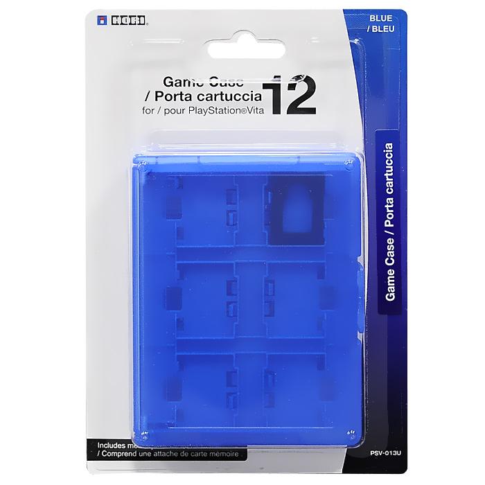 PS Vita: Футляр для хранения 12 игровых флэшкарт, BluePSP2000-Y007Футляр для хранения 12 игровых флэш карт PS Vita с удобным креплением.