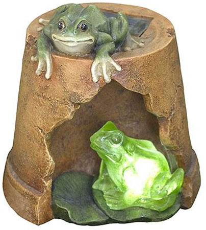 Садовое освещение Счастливый дачник Лягушата L-0213L-0213Характеристики:Материал: пластик. Размер светильника: 17 см х 16 см х 18 см. Размер коробки: 20 см х 19 см х 21 см.