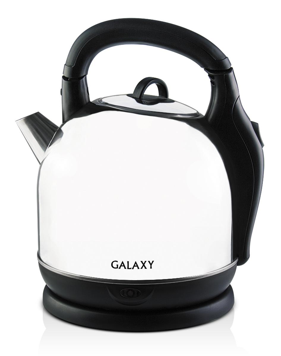 Galaxy GL0306, Silver Black электрочайник4630003362568Электрочайник Galaxy GL0306 изготовлен из стали марки 18/10, именуемой медицинской или хирургической. Такое название она получила не случайно, ведь именно из этой марки стали изготавливаются медицинские и хирургические инструменты. Это обусловлено тем, что сталь 18/10 экологически безопасна, имеет высокую плотность и твердость, устойчива к коррозии, а также к воздействию кислот и щелочей, в том числе при высоких температурах. Данная модель не меняет вкус воды, устойчива к образованию накипи и в течение многих лет сохраняет свои качественные и эстетические свойства.Скрытый нагревательный элемент. Указатель максимального уровня водыСиликоновые ножки для устойчивостиСкладная ручка