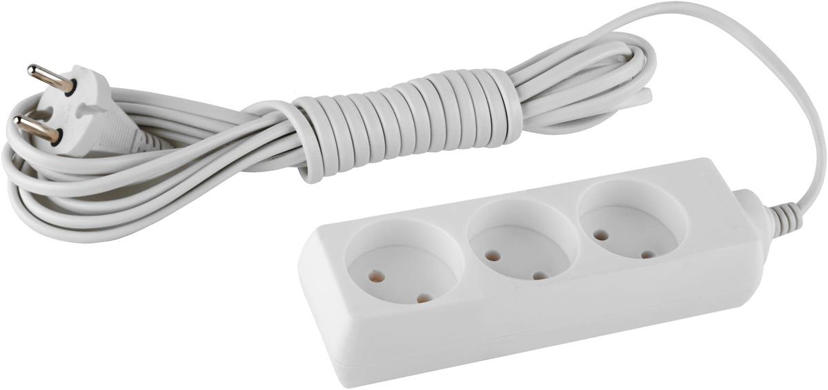 Удлинитель ЭРА UX-3-5m, 3 гнезда, 5 мUX-3-5mУдлинитель ЭРА UX-3-5m предназначен для удобного подключения к сети электроснабжения бытовой и компьютерной техники, позволяет подключить несколько потребителей к одной электрической розетке. Материал корпуса: полипропилен. Наличие заземляющего контакта: нет. Номинальное напряжение: 230В / 50 Гц.