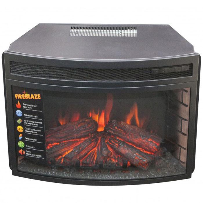 RealFlame Firespace 25 электроочаг декоративныйFirespace 25Электрический очаг RealFlame Firespace 25 предназначен для встраивания в обрамления. Он оснащен потрясающим эффектом пламени и муляжом дров, расположенных за полукруглым (панорамным) фронтальным стеклом. С помощью регулятора можно задать желаемую яркость пламени (4 уровня регулировки), а инфракрасный обогреватель с поддувом спрятан в верхней части очага и обеспечивает обогрев в холодную погоду. Электрический камин с порталом станет оригинальной деталью в любом интерьере, не нуждаясь при этом в никаких специальных работахпо установке.