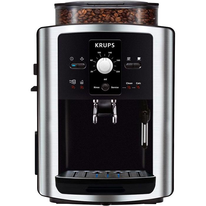 Krups EA8010PE Compact Espresseria кофемашинаEA8010Krups EA8010PE Compact Espresseria - кофемашина, оснащенная встроенной кофемолкой. Вместимость емкости для воды составляет 1800 мл, для зерен – 275 г, поэтому кофемашина хорошо подходит для тех, кто любит выпивать несколько чашек кофе в день.Вы можете воспользоваться встроенным автоматическим капучинатором, который взобьет воздушную молочную пену для вашего напитка. Krups EA8010PE обеспечивает 3 степени помола кофейных зерен, чтобы вы могли выбирать желаемую насыщенность вкуса и аромата. Кроме того, перед приготовлением напитка вы можете задать желаемую крепость, температуру и объем порции кофе. Отходы от приготовления кофе собираются в отдельный контейнер, поэтому кофемашину не придется очищать после каждого использования. Функция самоочистки от накипи продлевает срок службы прибора и упрощает уход за ним.Емкость контейнера для зерен: 275 гКонтейнер для отходовОдновременное приготовление двух чашекАвтоматическая декальцинация