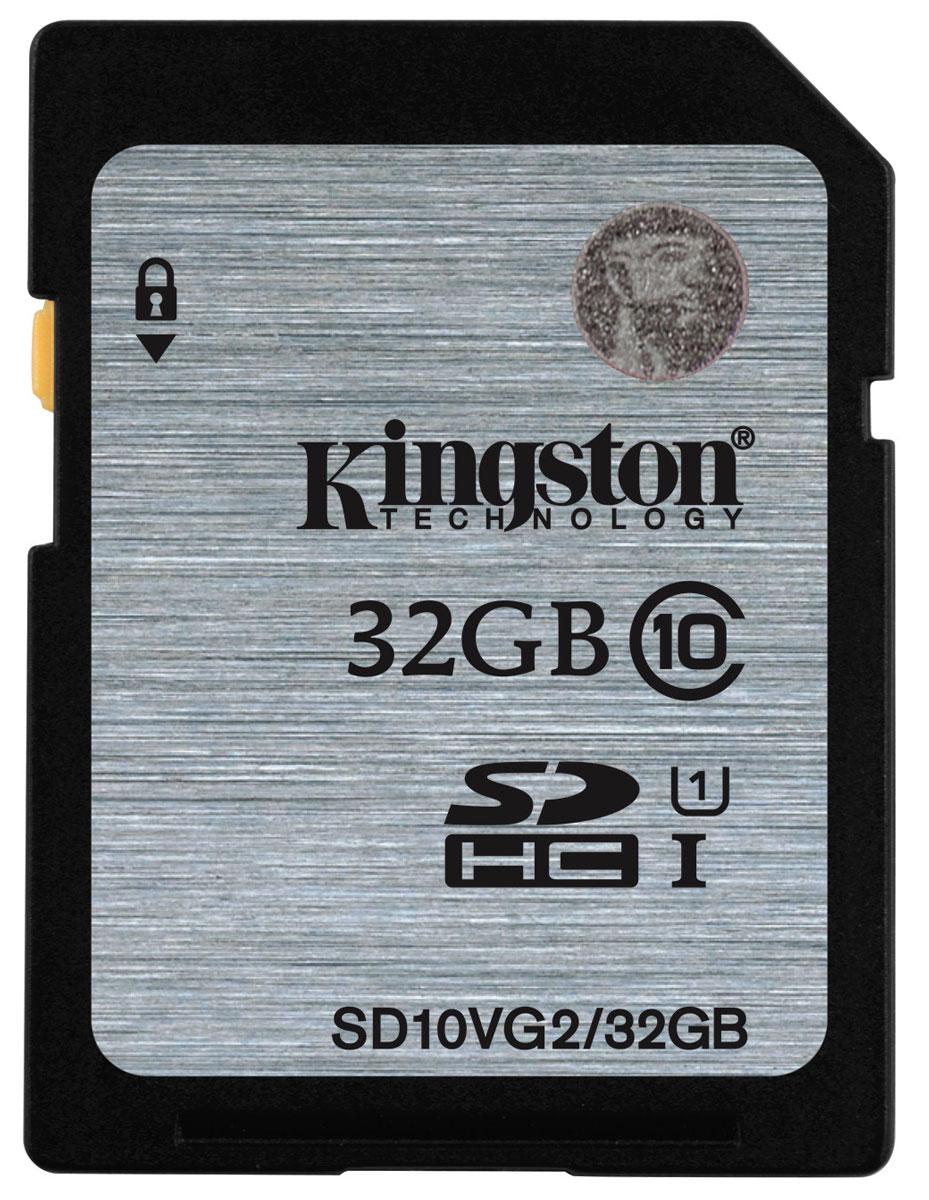 Kingston SDHC Class 10, 32GB карта памятиSD10VG2/32GBKingston SD SDHC Class 10 - карта памяти SDHC класса быстродействия 10. Увеличит объём памяти на ваших электронных устройствах SDHC. Гарантированная минимальная скорость передачи данных на уровне 10 Мб/сек. Карты памяти являются отличным решением для использования в новейших видеокамерах и фотоаппаратах.