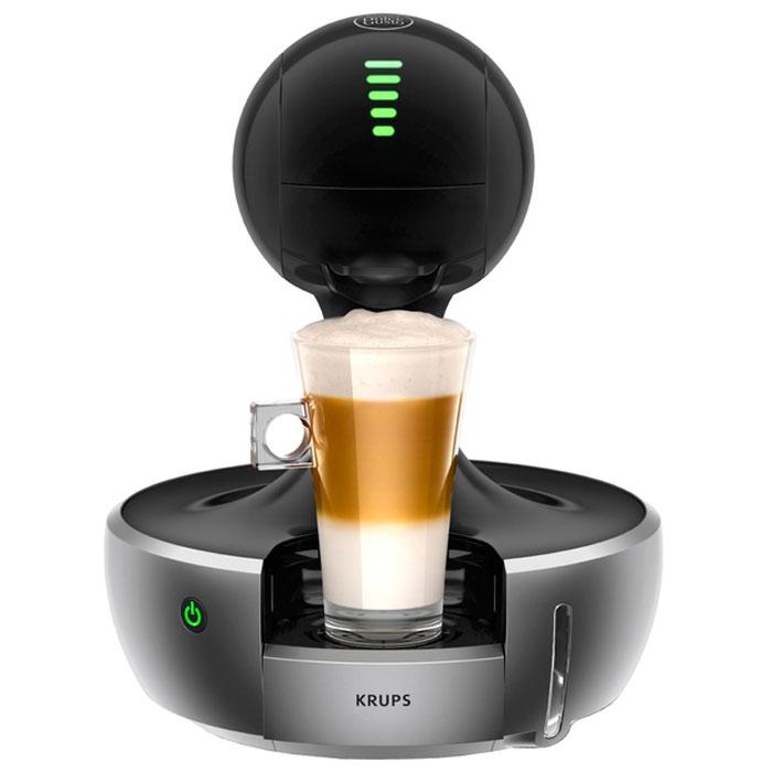 Krups KP350B10 капсульная кофемашинаKP350BKrups KP350B10 - это капсульная кофемашина с сенсорным управлением. Емкость водного резервуара составляет 800 мл, а в отсек для кофе может вмещать в себя до 6 капсул. Данная модель использует капсулы Nescafe Dolce Gusto с различными видами напитков на ваш выбор.Это полностью автоматическая модель, в которой для начала приготовления нужно лишь нажать одну кнопку. Мощность прибора составляет 1200 Вт, а максимальное давление пара 15 Бар гарантируют высокую скорость приготовления напитков. Прибор также оснащен светодиодным индикатором зеленого цвета и функцией автоматического выключения через 5 минут.