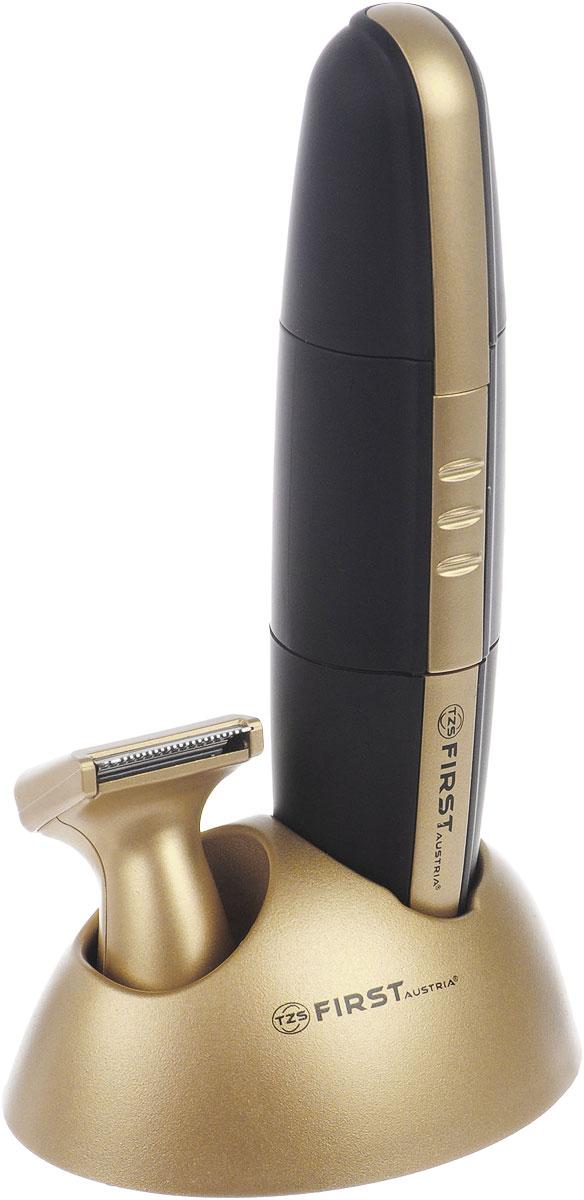 First 5680-2, Black Gold триммерFA-5680-2 Black/with goldFirst 5680-2 - это универсальное устройство, сочетающее в себе триммер для носа и ушей и точный триммер для моделирования бороды. Точечная подсветка области бритья позволяет добиться максимального результата. Триммер работает в беспроводном режиме всего от 1 батарейки АА. Данный триммер брызгозащитный, поэтому вы можете использовать его в ванной или других помещениях с повышенной влажностью. Наличие в комплекте подставки избавляет от необходимости поиска специального места для хранения устройства.