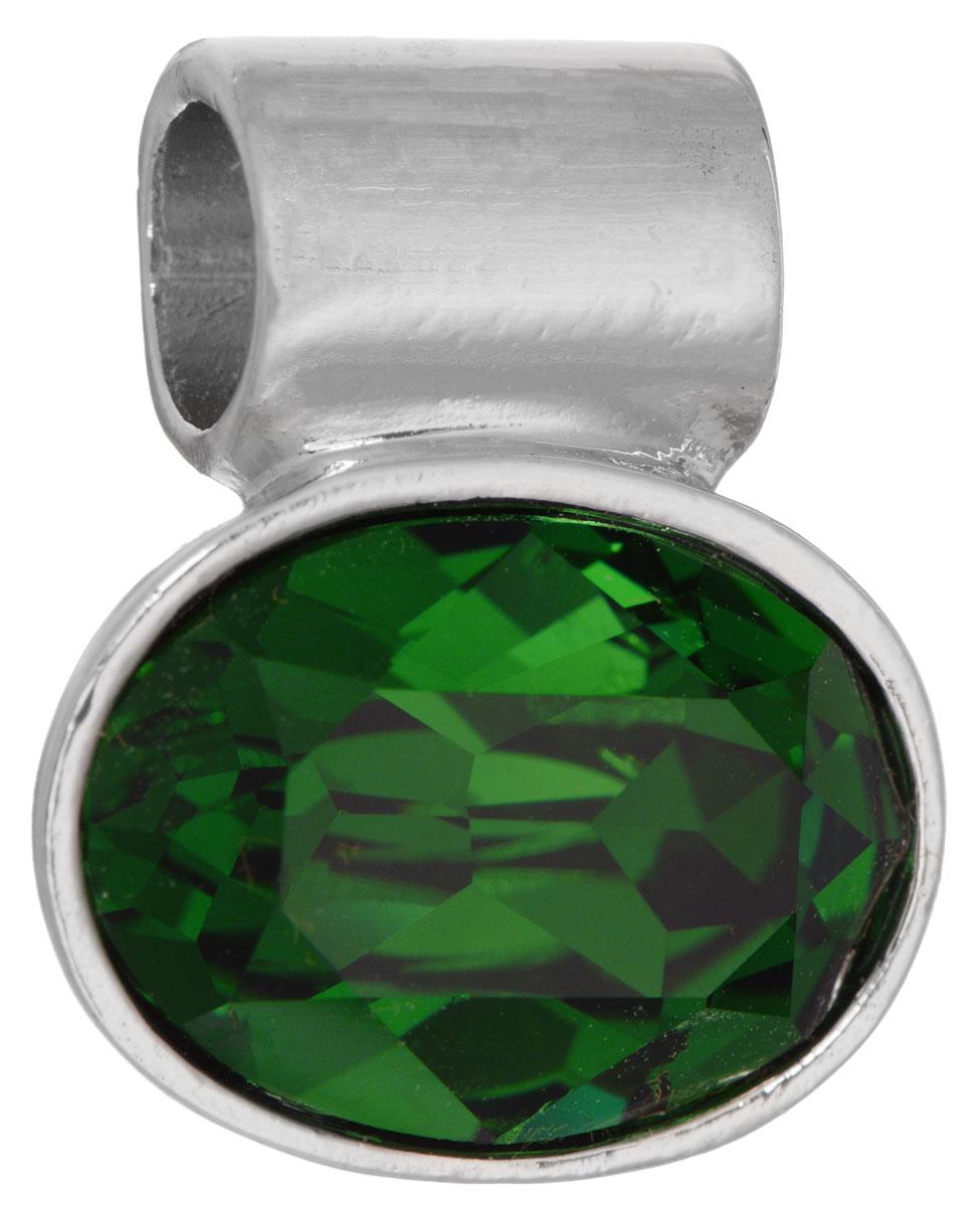 Подвеска Jenavi Таррела, цвет: серебряный, зеленый. k291f332Брошь-кулонПодвеска Jenavi Таррела выполнена из гипоаллергенного ювелирного сплава, оформлена покрытием из серебра и родия. Подвеска овальной формы дополнена граненым кристаллом Swarovski.Изделие имеет отверстие, которое позволит использовать цепочку любого диаметра.Подвеска Jenavi Таррела поможет дополнить любой образ и привнести в него завершающий яркий штрих.