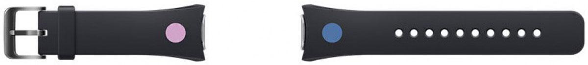 Samsung Gear S2 Mendini collection, Black ремешок для смарт-часовET-SRR72MBEGRUСменные ремешки для смарт-часов Samsung Gear S2 выделят из толпы и подчеркнут ваш неповторимый стиль. Ремешки из Mendini collection отличаются оригинальным внешним видом. Дизайн разработан знаменитым итальянским мастером Алессандро Мендини. Выберите свой стиль - классический или современный и носите часы с комфортом. Поменять ремешок можно одним движением - достаточно зажать кнопки для снятия и потянуть их в стороны. Мягкий материал - эластомер - приятен для кожи, не вызывает аллергии. Ремешок плотно прилегает к руке, не соскальзывает, для надежного крепления предусмотрена стальная пряжка.