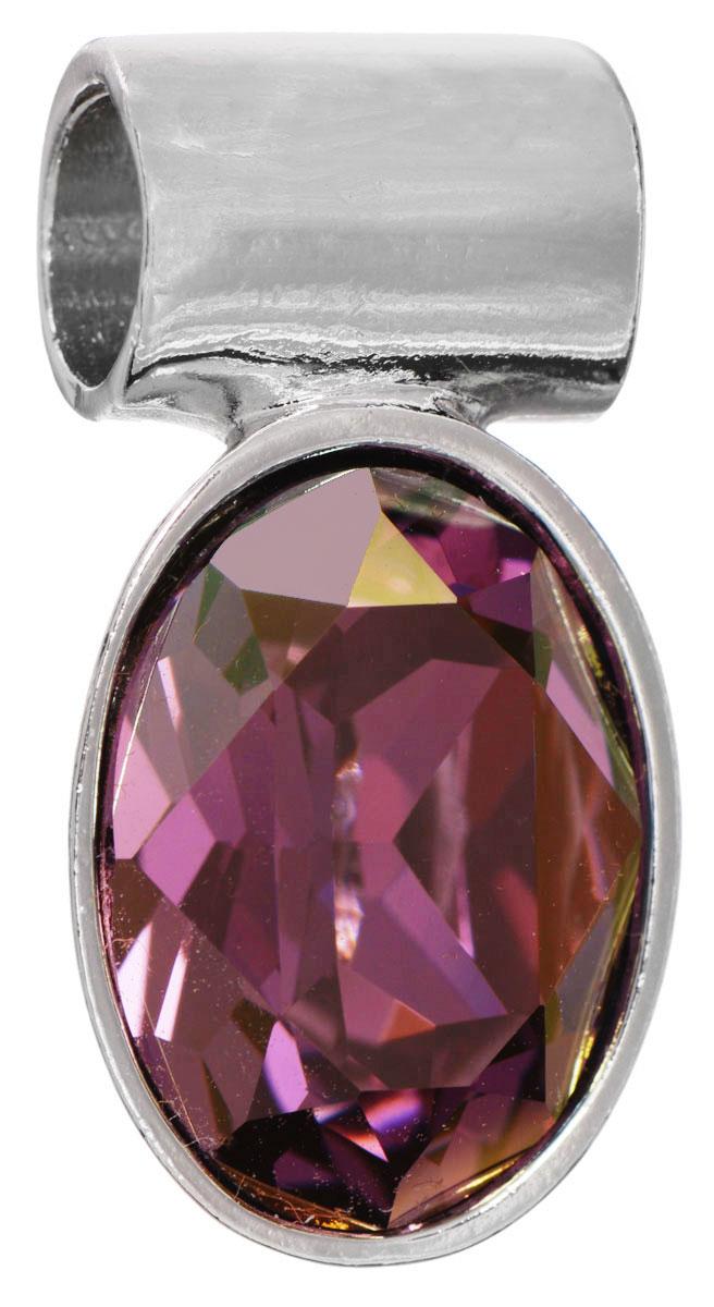 Подвеска Jenavi Лесанж, цвет: серебряный, фиолетовый. k286f351АромакулонПодвеска Jenavi Лесанж выполнена из гипоаллергенного ювелирного сплава, оформлена покрытием из серебра и родия. Подвеска овальной формы дополнена граненым кристаллом Swarovski.Изделие имеет отверстие, которое позволит использовать цепочку любого диаметра.Подвеска Jenavi Лесанж поможет дополнить любой образ и привнести в него завершающий яркий штрих.