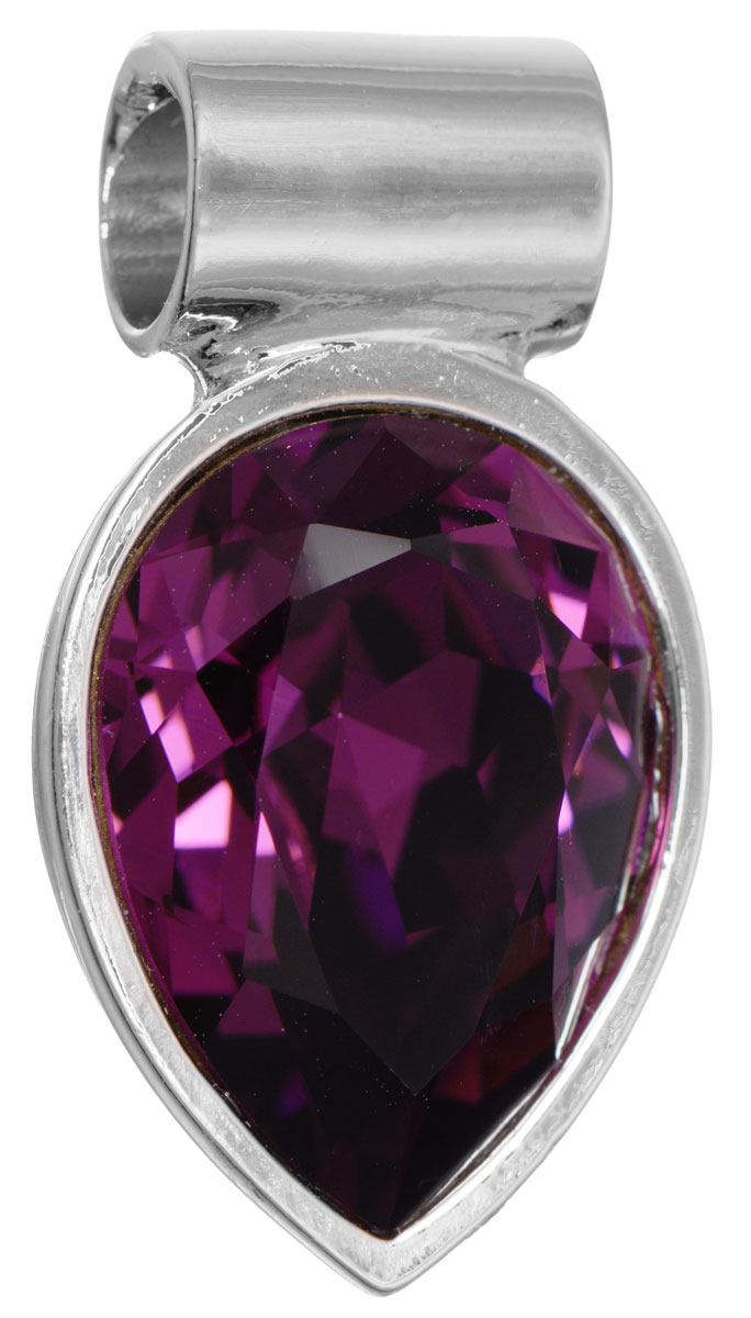 Подвеска Jenavi Нэсия, цвет: серебряный, фиолетовый. k266f350АромакулонПодвеска Jenavi Нэсия выполнена из гипоаллергенного ювелирного сплава с серебрением. Подвеска каплевидной формы дополнена граненым кристаллом Swarovski.Изделие имеет отверстие, которое позволит использовать цепочку любого диаметра.Подвеска Jenavi Нэсия поможет дополнить любой образ и привнести в него завершающий яркий штрих.