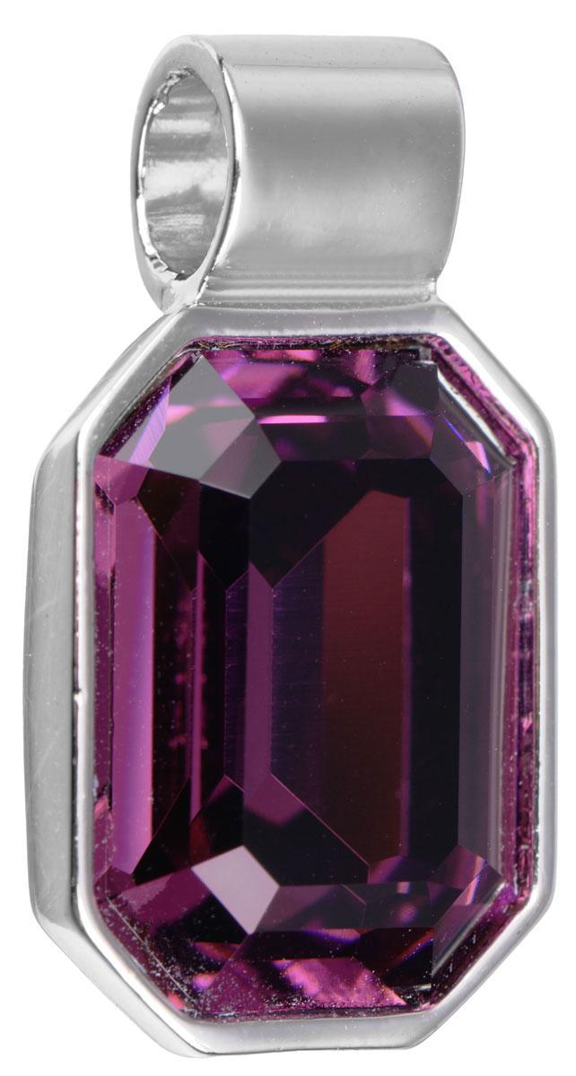 Подвеска Jenavi Кайлиса, цвет: серебряный, фиолетовый. k270f350Брошь-кулонПодвеска Jenavi Кайлиса выполнена из гипоаллергенного ювелирного сплава, оформлена покрытием из серебра и родия. Подвеска в форме восьмиугольника дополнена граненым кристаллом Swarovski.Изделие имеет отверстие, которое позволит использовать цепочку любого диаметра.Подвеска Jenavi Кайлиса поможет дополнить любой образ и привнести в него завершающий яркий штрих.