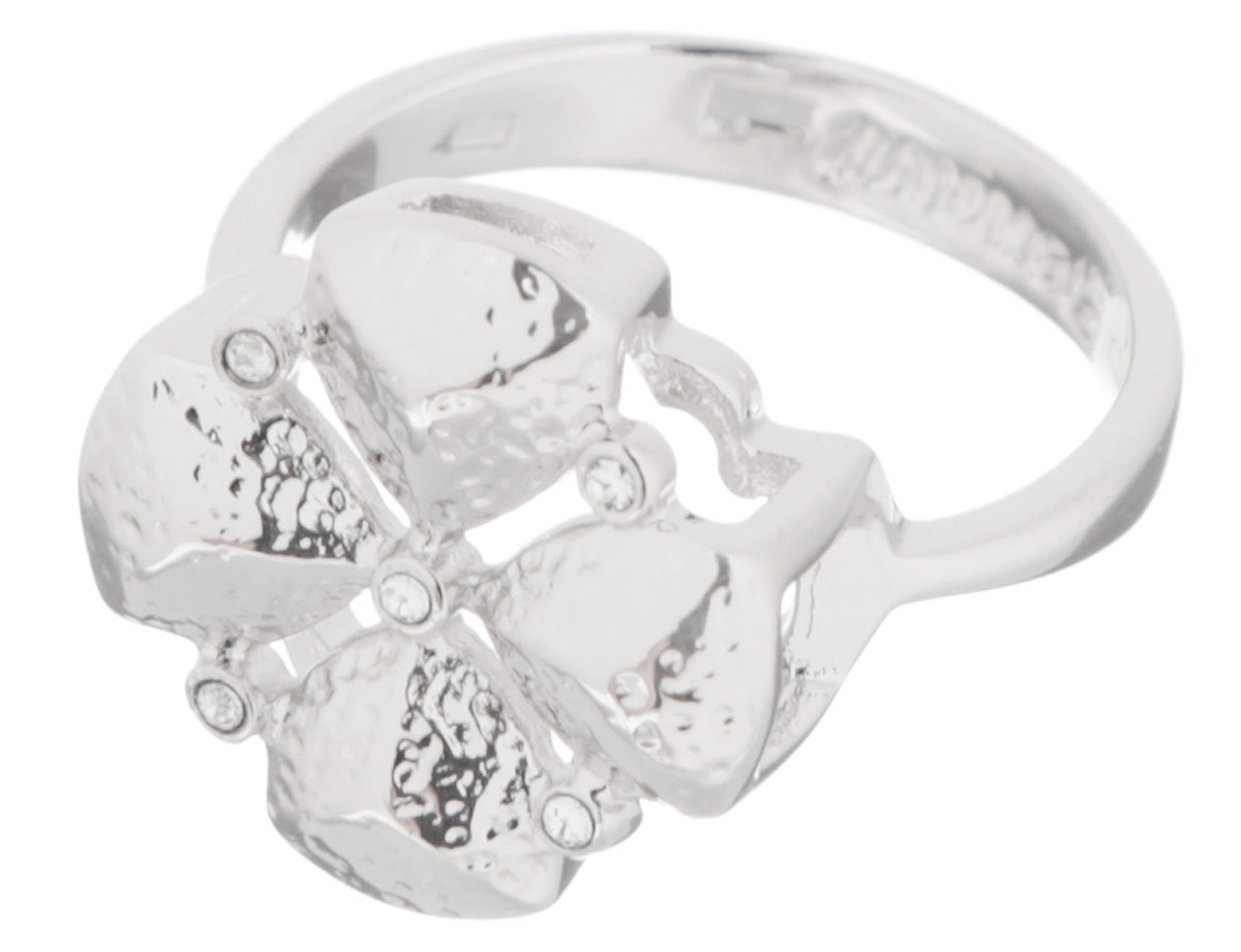 Кольцо Jenavi Рялеция, цвет: серебряный. k251f090. Размер 17Серьги с подвескамиКольцо современного дизайна Jenavi Рялеция изготовлено из ювелирного сплава с антиаллергическим гальваническим покрытием серебром с родированием. Декоративный элемент выполнен в виде цветка и оформлен мелкими стразами.Стильное кольцо придаст вашему образу изюминку и подчеркнет индивидуальность.