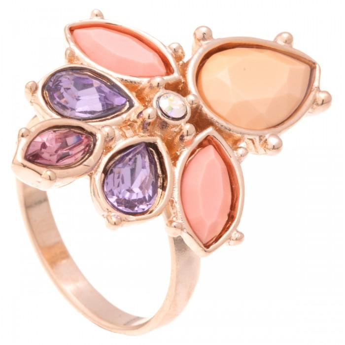 Кольцо Jenavi Пастель, цвет: золотистый, нежно-розовый, сиреневый. k323p0k7. Размер 16Коктейльное кольцоСтильное кольцо Jenavi Пастель изготовлено из ювелирного сплава с антиаллергическим гальваническим позолоченным покрытием. Декоративный элемент инкрустирован различными кристаллами Swarovski, что придает ему праздничный вид. Универсальное цветовое решение и оригинальный дизайн этого кольца не позволят вам остаться незамеченными.