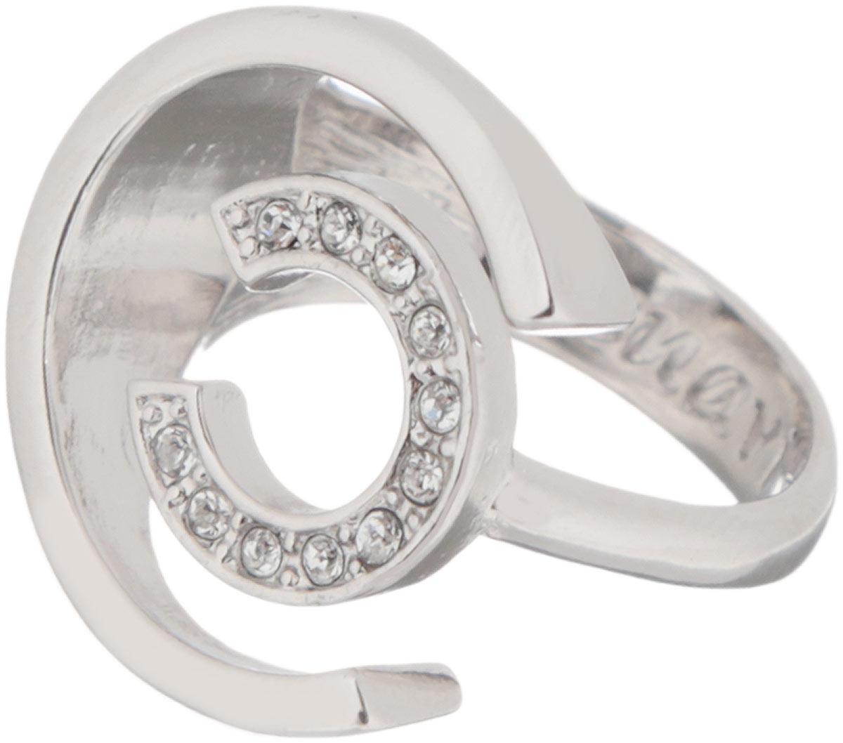 Кольцо Jenavi Форцетия, цвет: серебряный, белый. f506f000. Размер 16Коктейльное кольцоОригинальное кольцо Jenavi Форцетия изготовлено из антиаллергического ювелирного сплава и серебрением с родированием. Декоративный элемент выполнен в виде двух полуокружностей разного размера, одна из которых инкрустирована гранеными кристаллами Swarovski.Стильное кольцо придаст вашему образу изюминку, подчеркнет индивидуальность.