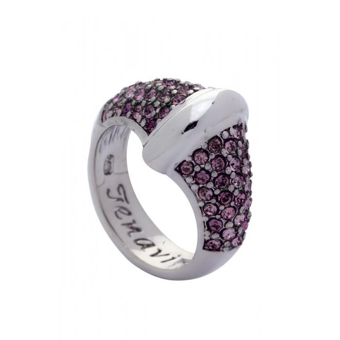 Кольцо Jenavi Фрона, цвет: серебряный, розовый. j955f010. Размер 20Коктейльное кольцоСтильное кольцо Jenavi Фрона изготовлено из ювелирного сплава с антиаллергическим гальваническим покрытием серебрением с родированием. Кольцо инкрустировано мелкими розовыми кристаллами Swarovski.Изысканный дизайн этого кольца не позволит вам остаться незамеченными.