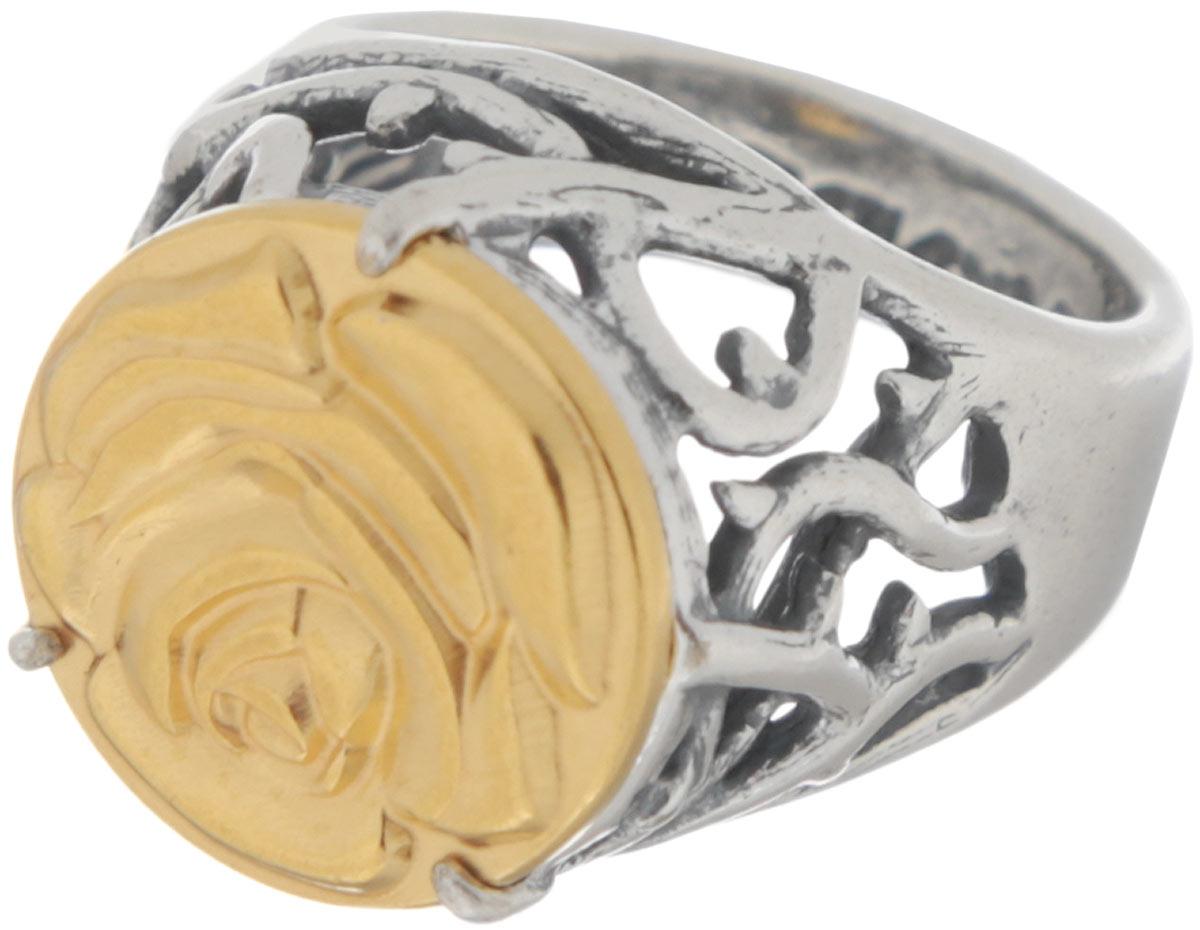 Кольцо Jenavi Форсети, цвет: серебряный, золотой. r693x090. Размер 16Кольцо-печаткаЭффектное кольцо-печатка Jenavi Форсети выполнено из ювелирного сплава с антиаллергическим гальваническим смешанным покрытием. Изделие декорировано ажурным литьем и тисненой розой на поверхности декоративного элемента.Стильное кольцо придаст вашему образу изюминку и подчеркнет индивидуальность.