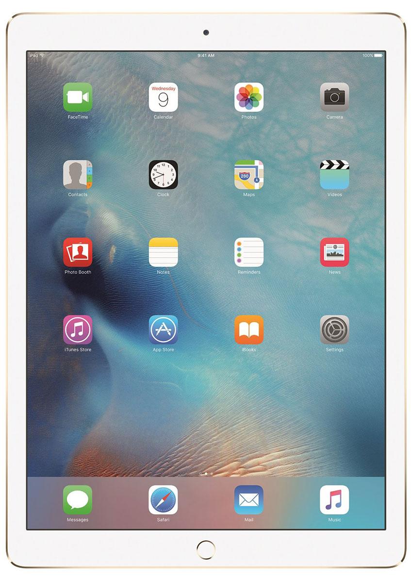 Apple iPad Pro Wi-Fi 128GB, GoldML0R2RU/AС Apple iPad Pro мир ваших увлечений станет ещё обширнее. Он оснащён потрясающим 12,9-дюймовым дисплеем Retina и улучшенной технологией Multi-Touch, а его производительность почти в два раза превосходит iPad Air 2. Новый iPad Pro не просто больше - с ним вы получите возможность работать и творить в совершенно иных масштабах.Дисплей Retina с диагональю 12,9 на iPad Pro - самый совершенный из всех. Он на 78% больше, чем у iPad Air 2, а под его стеклом уместились обновлённая подсистема Multi-Touch и самое высокое разрешение среди всех устройств iOS - 5,6 миллиона пикселей. Его потрясающая чёткость и впечатляющие цвета, включая насыщенный чёрный, делают любое занятие, от обработки фотографий до игр со сложной графикой, невероятно увлекательным.В корпус данной модели встроено четыре передовых динамика, которые обеспечивают живой и объёмный звук. И впервые отсеки для них вырезаны прямо в корпусе unibody. Благодаря новой архитектуре динамики получили на 61% больше места, что расширило диапазон частот и втрое повысило их мощность по сравнению с предыдущими моделями iPad.Динамики в iPad Pro - это не только качественный звук, но и умная технология. Все они воспроизводят звук низких частот, а верхние - ещё и высоких. Кроме того, динамики автоматически распознают вертикальное или горизонтальное положение устройства. Как ни крути, iPad Pro всегда гарантирует живое и сбалансированное звучание.Smart Connector - новый элемент интерфейса, который использует проводящий материал Smart Keyboard для передачи сигнала в обоих направлениях. Он обеспечивает питание клавиатуры Smart Keyboard (продается отдельно) от iPad Pro и передаёт импульс от клавиш обратно на iPad Pro. Пользоваться разъёмом Smart Connector проще простого. Вставьте iPad Pro в Smart Keyboard - так же, как в чехол Smart Cover - и начинайте работать.Производительность процессора A9X в 1,8 раза выше, чем у iPad Air 2, а скорость его работы и отклика просто поражает. iPad Pro реагирует 