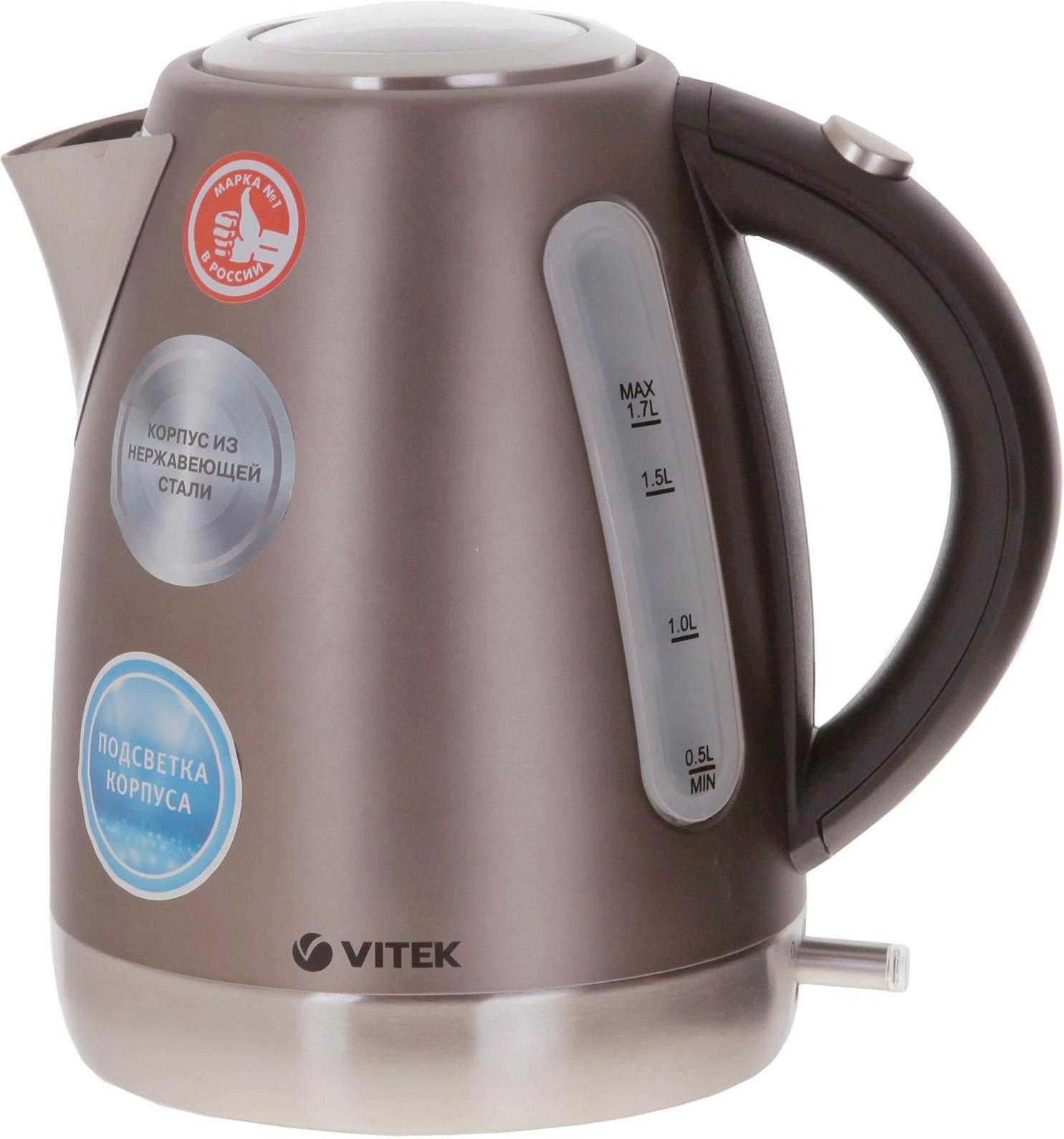 Vitek VT-7025(ST) электрочайникVT-7025(ST)Ни одна современная кухня не обходится без надежного электрочайника. При помощи этого устройства вы быстро вскипятите или подогреете воду для приготовления любимых горячих напитков. Важно, чтобы чайник соответствовал вашим потребностям: он должен быть функциональным, технологичным, надежным, а также практичным и стильным. Бренд VITEK учел желания каждого потребителя, представив на ваш выбор разнообразные модели, которые принесут в ваш дом тепло и уют!
