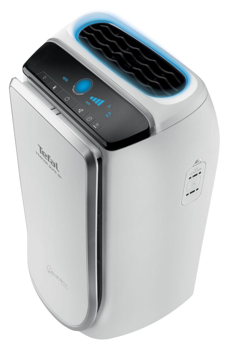 Tefal PU4025, White воздухоочистительPU4025Очиститель воздуха Tefal Pure Air PU4025 - это высокоэффективный очиститель воздуха, в котором применена технология NanoCaptur. Это многоступенчатая система очистки, которая позволит дышать чистым и здоровым воздухом в вашем доме.Модель обладает 4 встроенными фильтрами, в результате чего осуществляется фильтрация до 99,97% загрязняющих веществ.Фильтр предварительной очистки отлавливает крупные частицы, например, пыль, волосы, шерсть и т. д. Активный угольный фильтр поглощает запахи, газ и летучие органические соединения (бензол, ацетон, тетрахлорэтилен и т. д.). Фильтр тонкой очистки HEPA задерживает до 99,95% наиболее сложных для фильтрации частиц, т.е. частиц размером 0,3 мкм (плесень, пыльца, бактерии). И фильтр NanoCaptur окончательно разрушает формальдегид, самое опасное из загрязняющих веществ. Очиститель воздуха Pure Air работает почти бесшумно. Модели для спален на низкой скорости генерируют всего лишь 22 дБ, а на максимальной скорости - 45 дБ.Для своевременной замены фильтров, очиститель имеет световые индикаторы. Индикаторы замены фильтров HEPA и ODOR начинают мигать, когда возникает необходимость замены фильтра тонкой очистки и активного угольного фильтра, соответственно. Данные индикаторные лампочки учитывают фактическую длительность использования очистителя воздуха, а также уровень загрязнения в помещении.Коэффициент подачи чистого воздуха: 160 м3/чТаймер/отложенное включение: 1 ч/2 ч/4 ч/8 чАвтоматический и ночной режимы