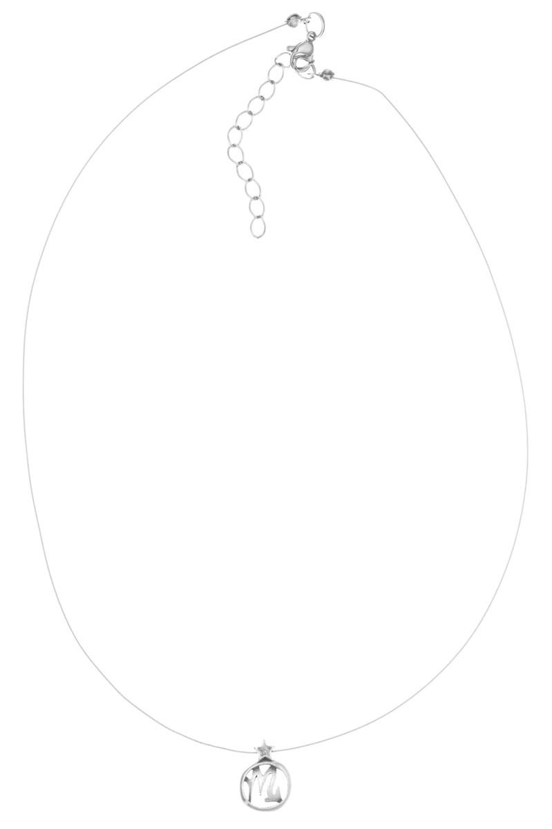 Кулон Jenavi Виргос, цвет: серебряный. k3553990Брошь-кулонКулон Jenavi Виргос выполнен в виде символа знака зодиака Скорпион из гипоаллергеннго ювелирного сплава с покрытием из черненого серебра. Кулон дополнен металлизированной нитью, которая фиксируется на замок-карабин. Длина изделия регулируется за счет дополнительных звеньев.Кулон Jenavi Виргос поможет дополнить любой образ и привнести в него завершающий штрих.