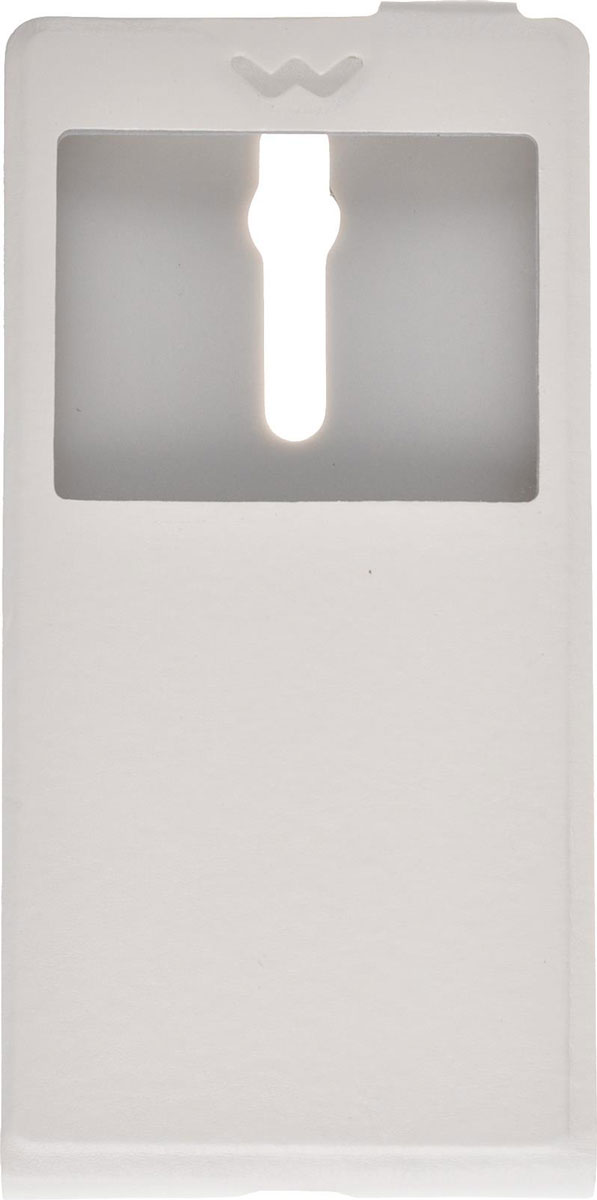 Skinbox Flip slim AW чехол для Asus Zenfone 2 ZE550ML/551ML, White аксессуар чехол asus zenfone 2 ze550ml 5 5 activ white mat 52838