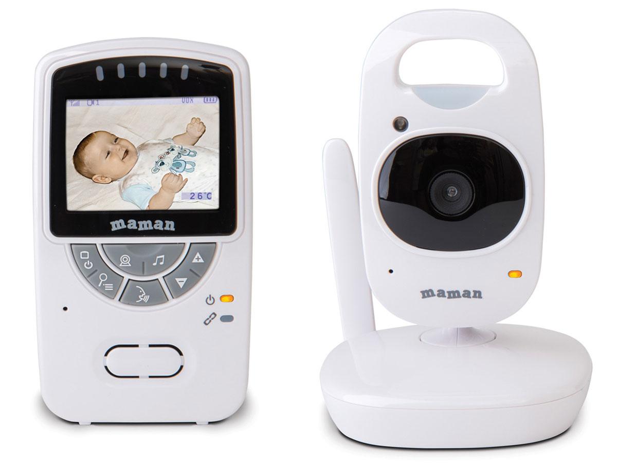 """Многофункциональная беспроводная система видеонаблюдения Maman VM5401 использует современную технологию передачи данных, которая позволяет избежать помех. Видеоняня имеет цветной экран 2,4"""""""