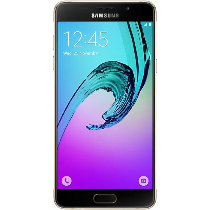 Samsung SM-A510F Galaxy A5, GoldSM-A510FZDDSERSamsung SM-A510F Galaxy A5 - стильный и мощный смартфон из стекла и металла, который сделает вашу жизнь комфортнее благодаря эргономичному дизайну, мощному аккумулятору, поддержке быстрой зарядки, усовершенствованной камере, улучшенному процессору и поддержке LTE.Премиальный дизайн, надежность и великолепие стекла Gorilla Glass. Оцените комфортный просмотр изображений на 5,2-дюймовом Full HD экране с более тонкой рамкой.Восьмиядерный процессор Samsung Exynos 7 Octa 7580 с частотой 1,6 ГГц обеспечивает быстрый доступ к любимым приложениям и великолепную поддержку в режиме многозадачности.Фронтальная и основная камеры с диафрагмой F1.9 - это всегда яркие и четкие снимки даже в условиях низкой освещенности. Благодаря быстрому запуску камеры двойным нажатием кнопки Домой вы не упустите самые важные моменты вашей жизни. Для создания отличных селфи предусмотрено сразу несколько удобных функций - например, Palm Selfie, с помощью которой можно управлять камерой жестом, функция Wide Selfie, позволяющая создавать панорамные селфи, а также набор эффектов для улучшения изображения.Аккумулятор с увеличенной ёмкостью продлевает работу смартфона. Смотрите видео с высоким HD разрешением, играйте в игры, слушайте музыку и работайте с любыми приложениями дольше, чем обычно. Режим быстрой зарядки позволяет зарядить смартфон за 105 минут.Технология распознавания отпечатка пальца обеспечивает надежную защиту данных в смартфоне, а также большее удобство в использовании смартфона.Телефон сертифицирован Ростест и имеет русифицированный интерфейс меню, а также Руководство пользователя.