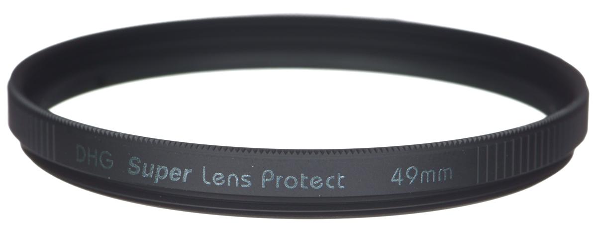 Marumi DHG Super Lens Protect защитный светофильтр (49 мм)DHG Super Lens ProtectСветофильтр Marumi DHG Super Lens Protect относится к последнему поколению высококлассных защитных светофильтров для цифровой фототехники. Он имеет специальное двухстороннее просветление, устраняющее ультрафиолетовые лучи, и улучшающее при этом качество изображения. Также светофильтр Marumi DHG Super Lens Protect отсекает инфракрасные лучи, вредные для матрицы цифровой камеры, значительно продлевая срок ее службы.Просветление DHG Super имеет очень прочный наружный защитный слой, который защищает фильтр от истирания и царапин, а также обладает водоотталкивающим и грязеотталкивающим эффектом. Любые загрязнения на светофильтре очень легко удаляются при помощи салфетки. Светофильтры Marumi DHG Super Lens Protect имеют также антистатическую защиту.Светофильтры Marumi DHG Super Lens Protect изготовлены из сверхтонкого и прочного оптического стекла, закрепленного через герметичную прокладку, тонкая оправа позволяет использовать сверх широкоугольные объективы. Оправа светофильтра покрыта специальным нитридным чернением, что сводит к нулю любые внутренние переотражения. Резьба светофильтров серии DHG Super имеет тефлоновое покрытие.